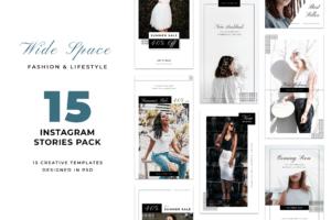 Instagram Stories - White Fashion Theme