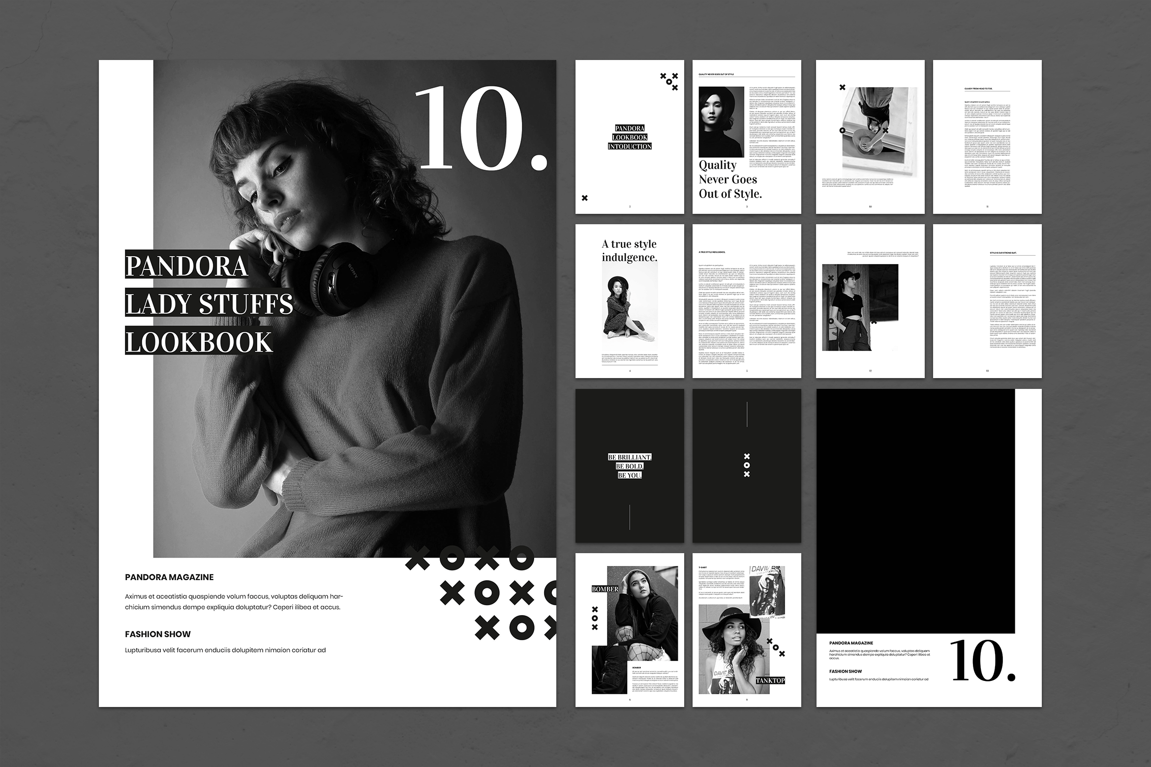 Magazine Template - Pandora Lady