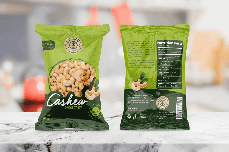 Packaging Template - Organic Cashew Nuts