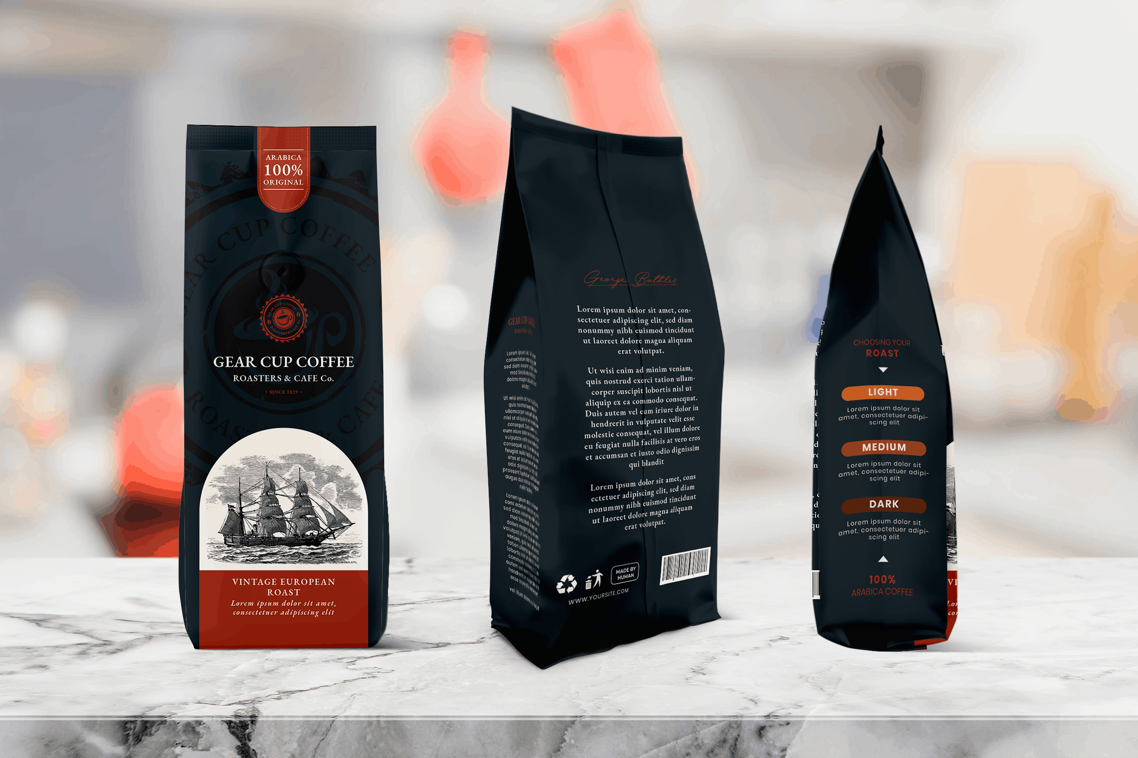 Packaging Template - Cup Coffee