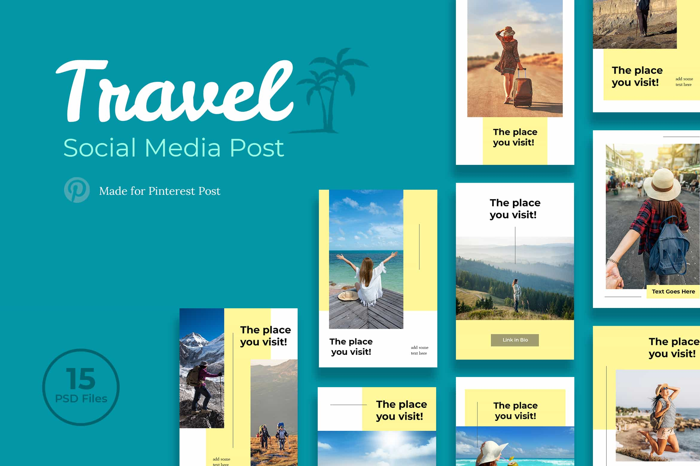 Pinterest Template Travel Post