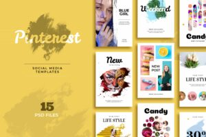Pinterest Template - Candy & Lifestyle Post