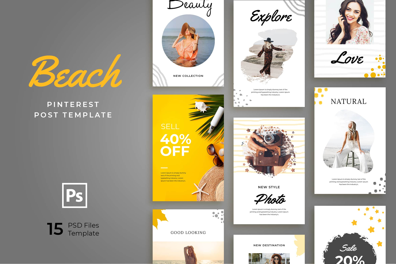 Pinterest Template - Beach Explore Post