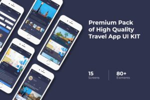 Mobile UI KIT - Brief Travel App