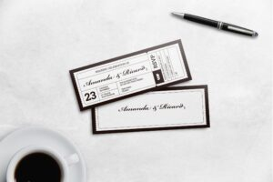 Boarding Pass Wedding Invitation - White Theme