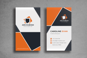 Business Card - Black Orange Template