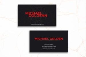 Business Card - Black Template