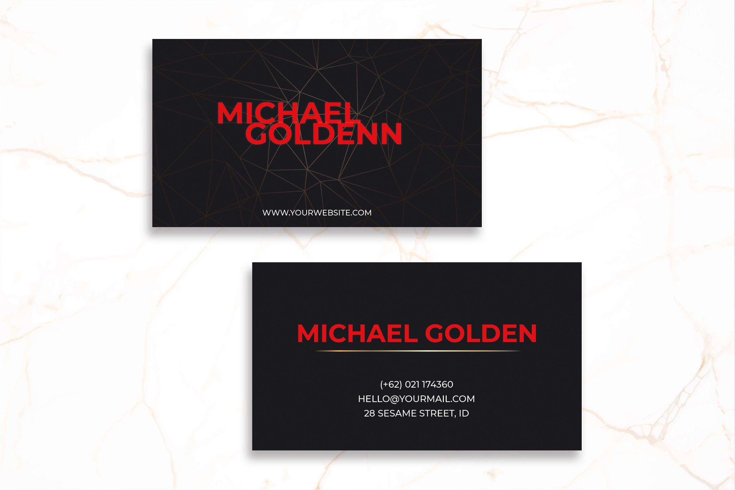 Business Card - Black Template