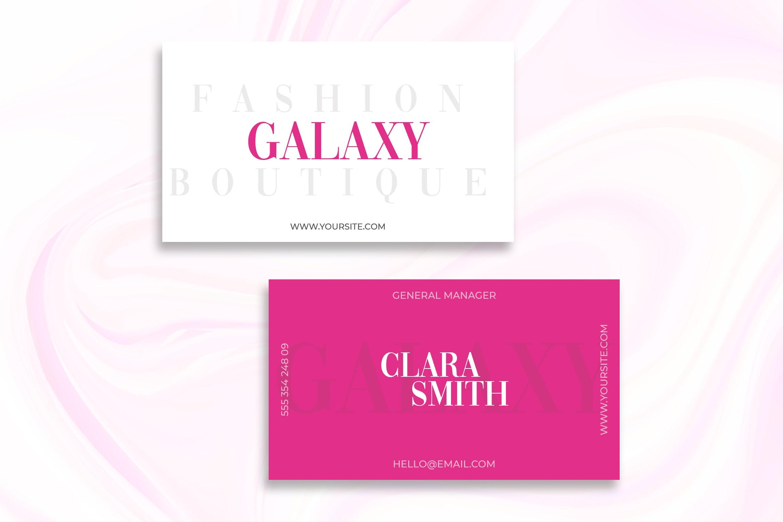 Business Card Fashion Boutique Template