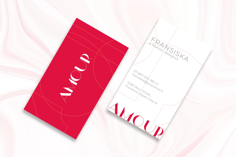 Business Card Fashion Designer Identity