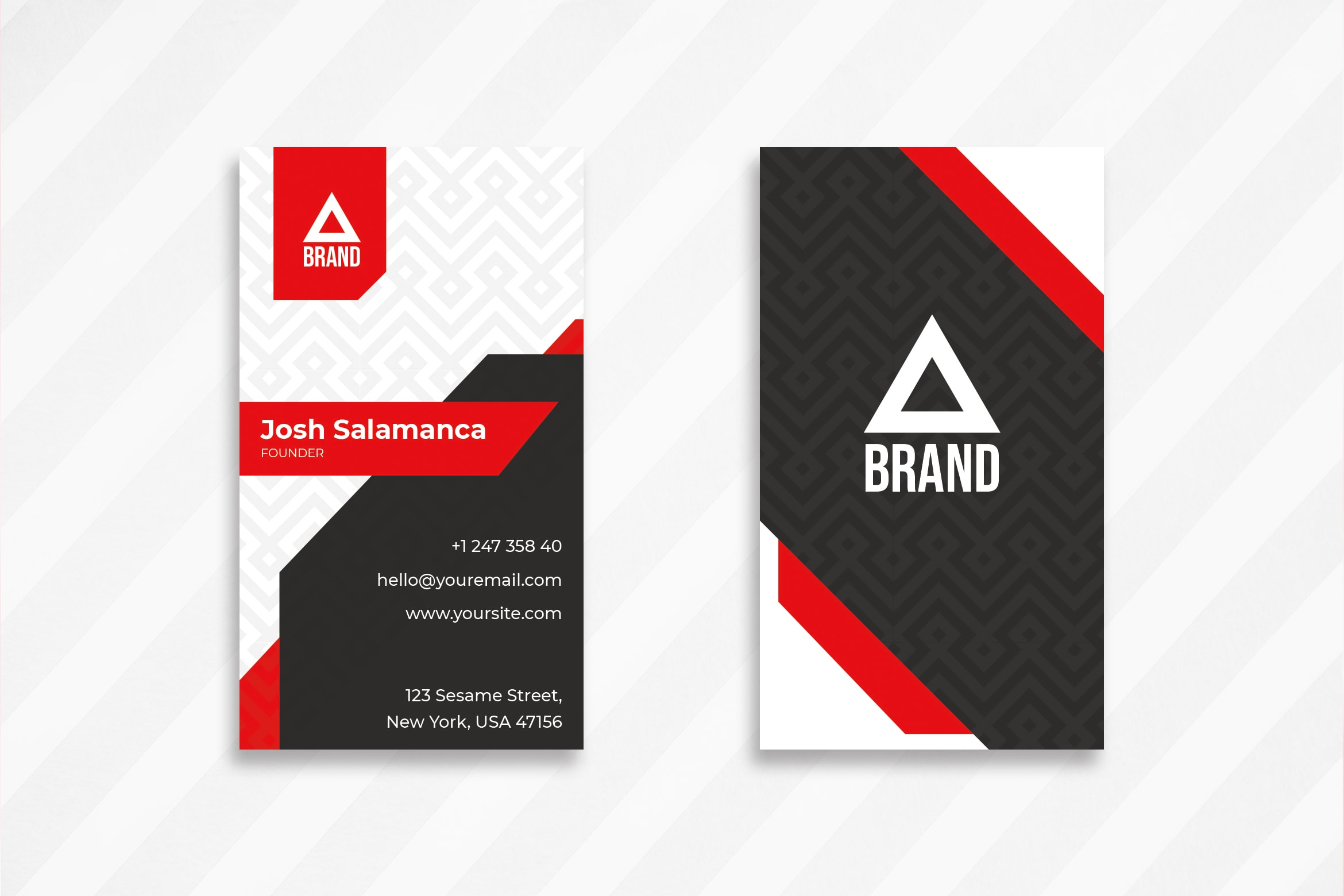 Business Card - Red Black Motive