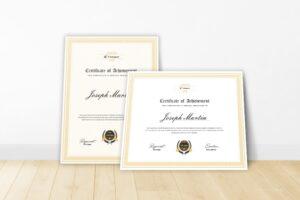 Certificate - Awards Theme