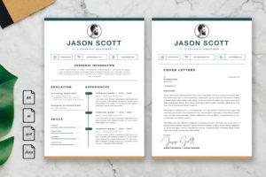CV Resume – Graphic Designer Profile 15