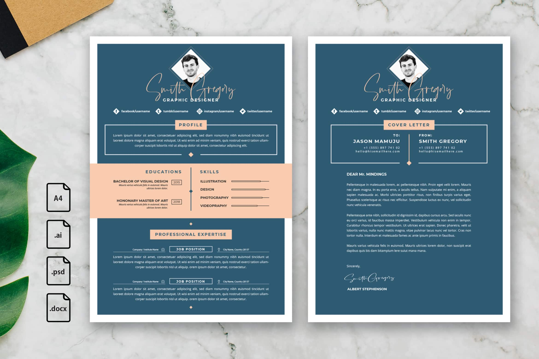 CV Resume – Graphic Designer Profile 16