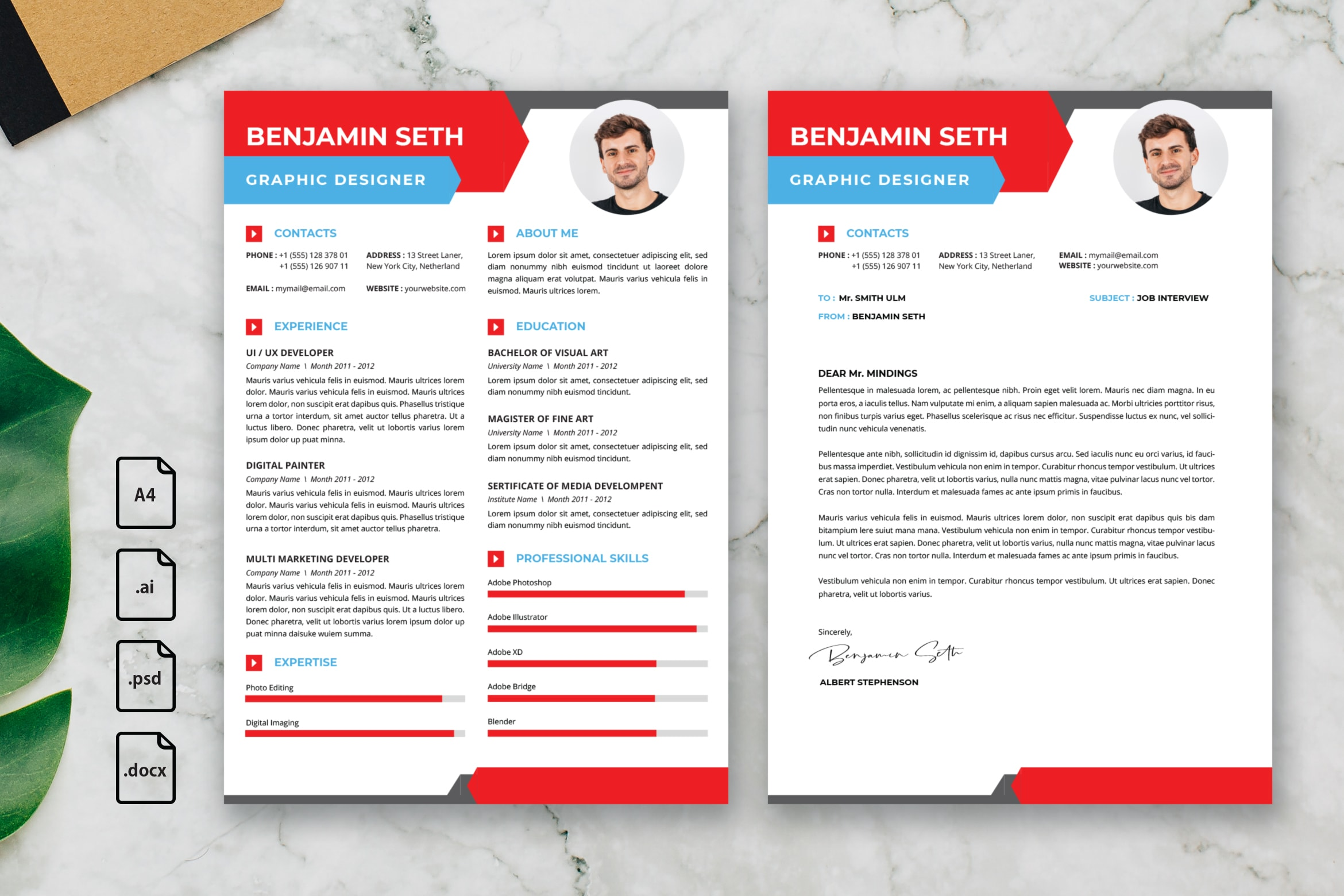 CV Resume – Graphic Designer Profile 17