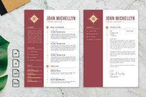 CV Resume – Graphic Designer Profile 18