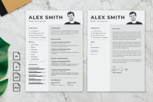 CV Resume – Graphic Designer Profile 19