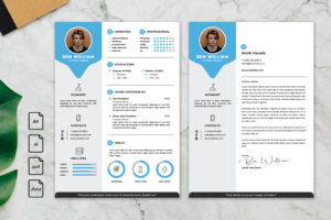 CV Resume – Graphic Designer Profile 22