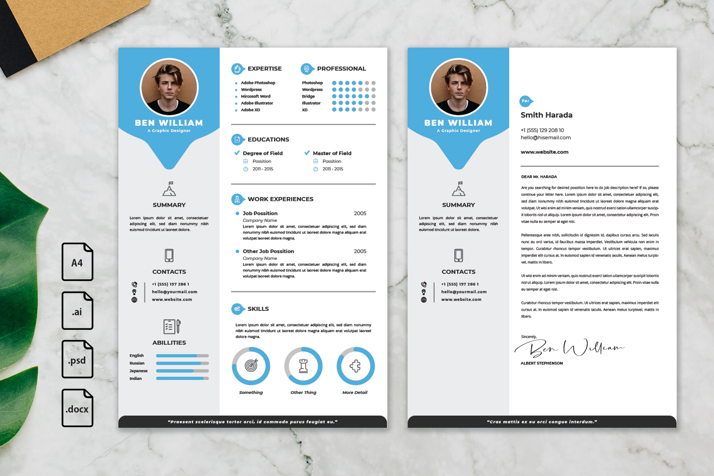 CV Resume – Graphic Designer Profile 22
