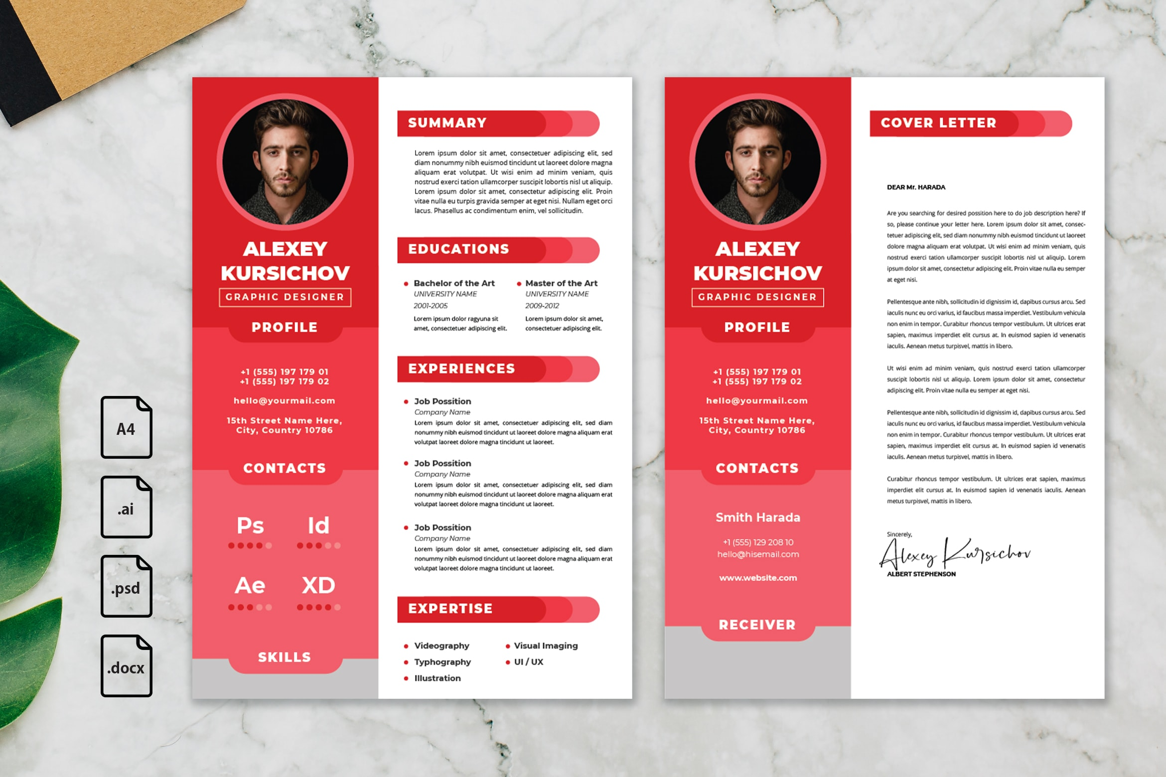 CV Resume – Graphic Designer Profile 23