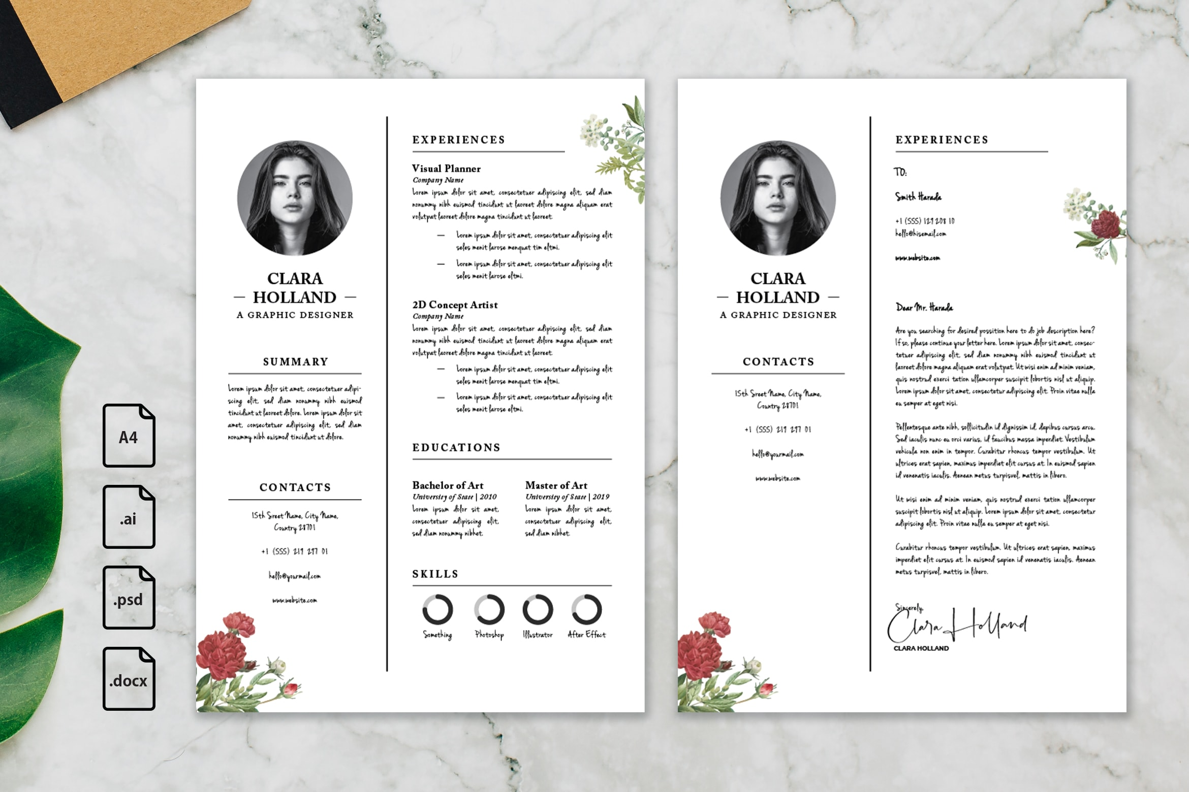 CV Resume – Graphic Designer Profile 24