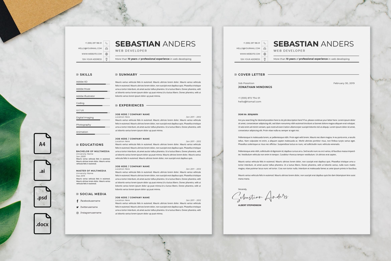 CV Resume – Web Developer Profile 4