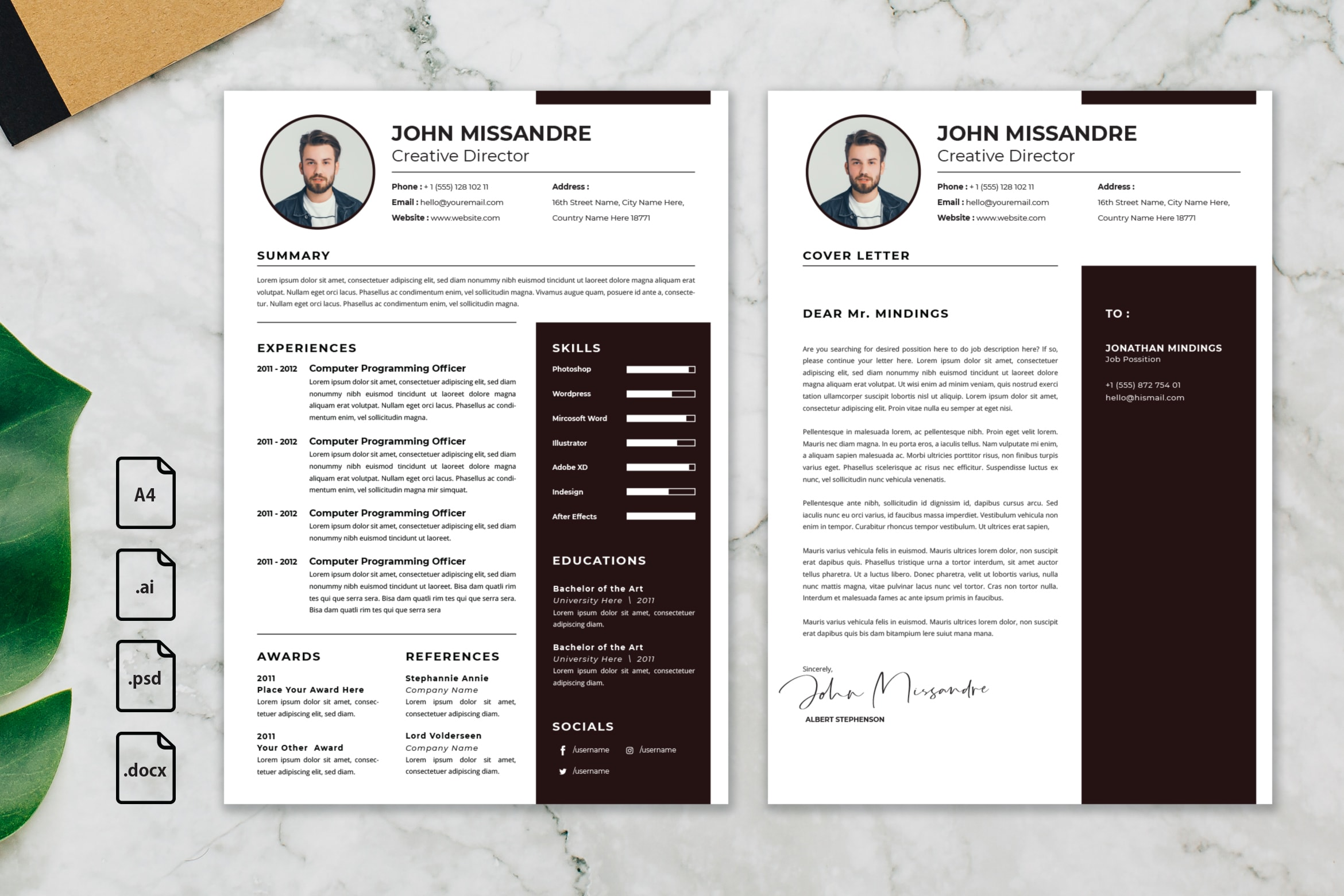 CV Resume - Creative Director Profile