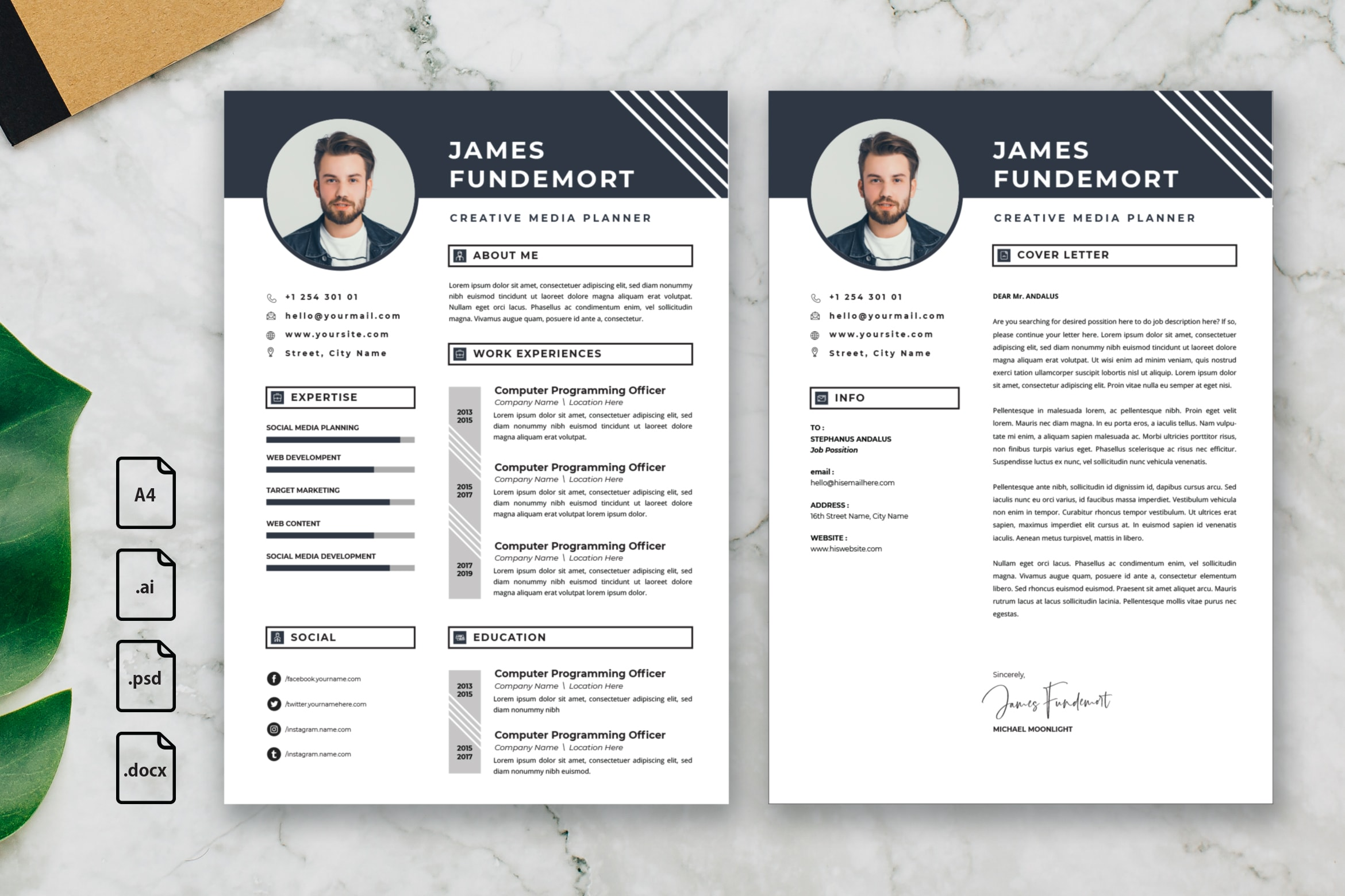 CV Resume - Creative Media Planner Profile