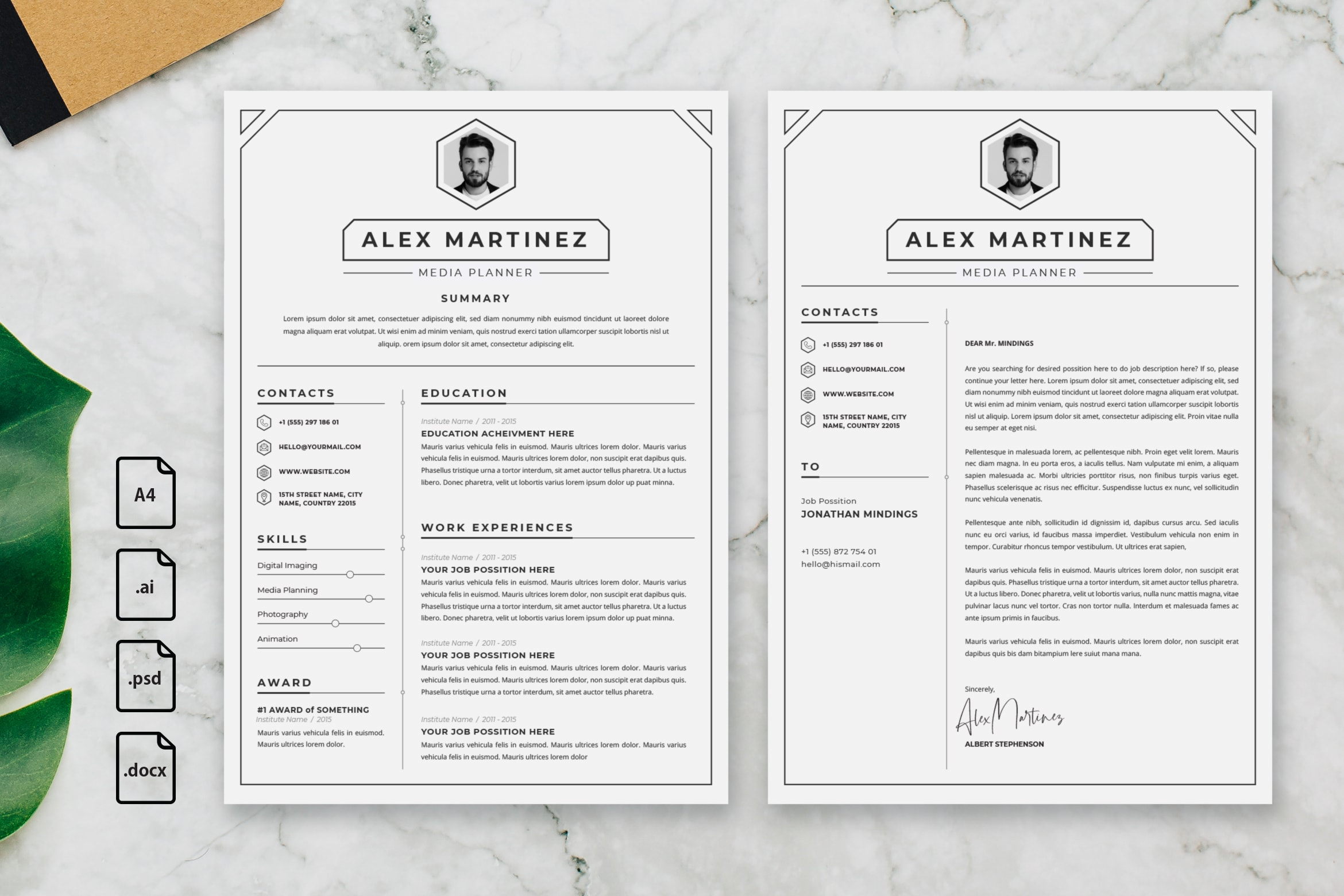 CV Resume - Media Planner Profile