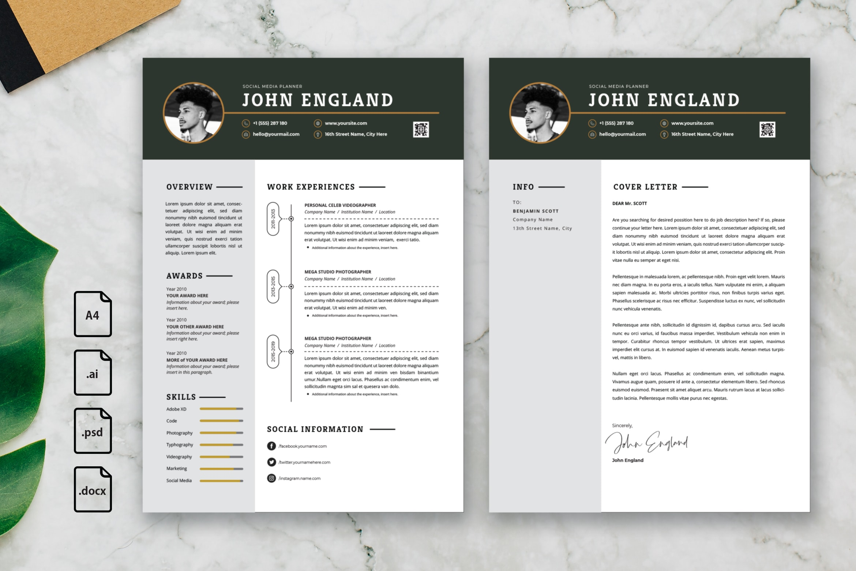 CV Resume - Social Media Planner Profile