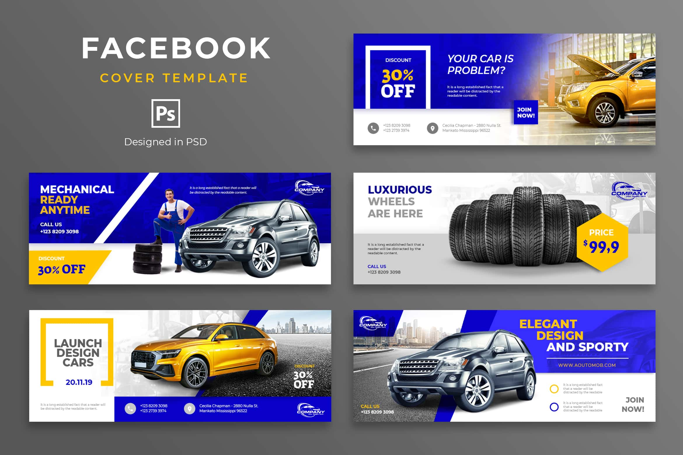 Facebook Cover - Car Mechanical