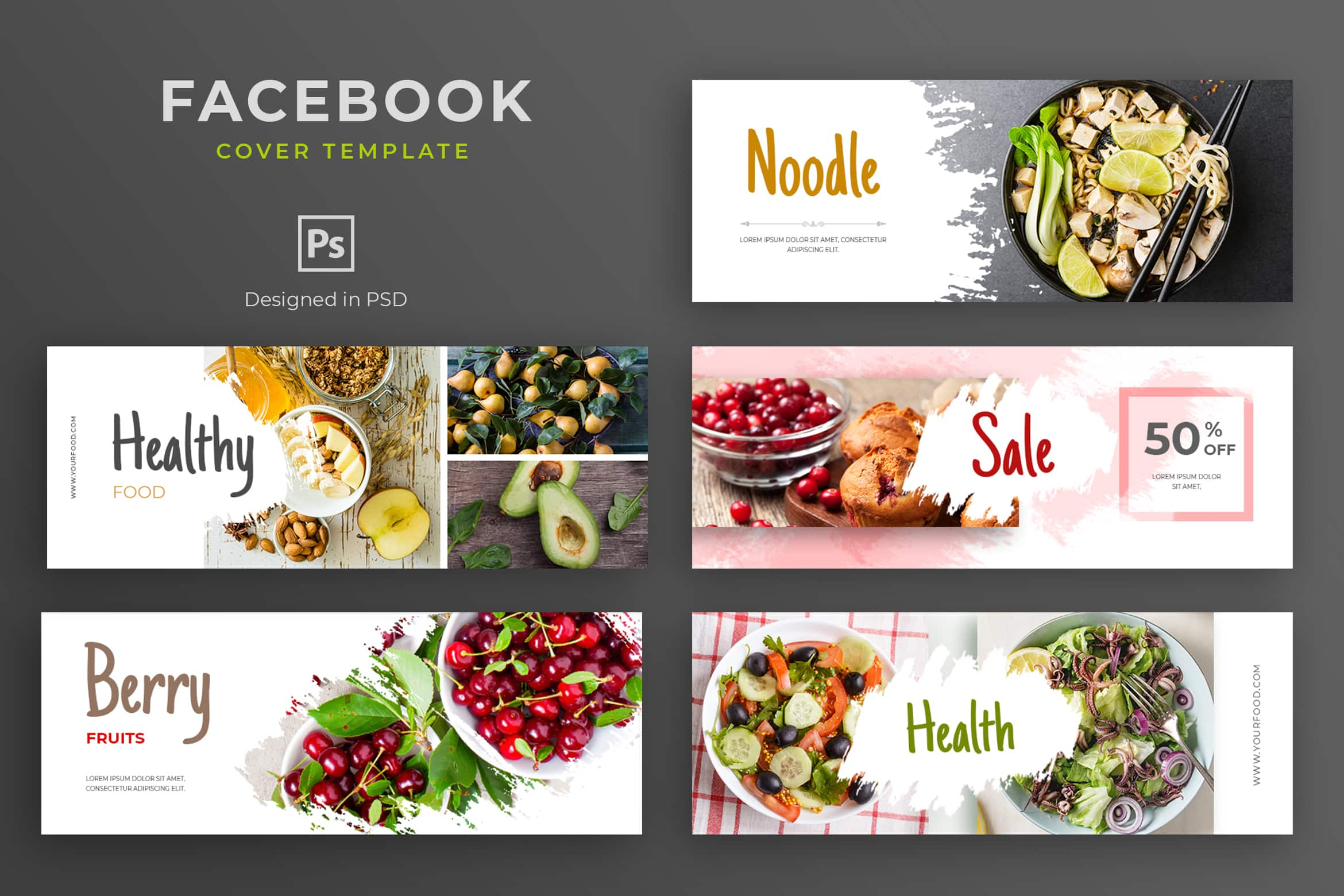 Facebook Cover Fruits Healthy Sale