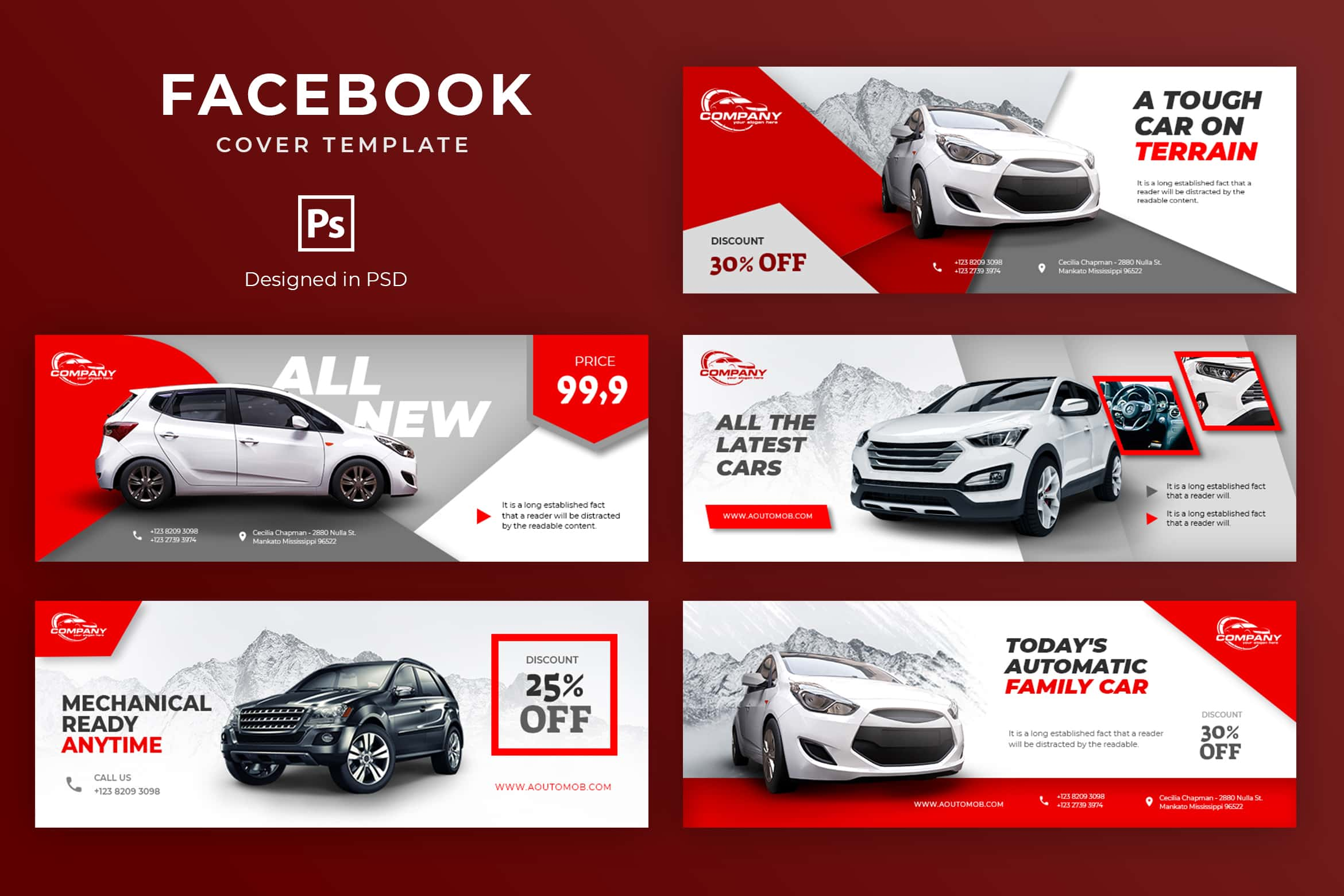 Facebook Cover - Modern Car Showroom