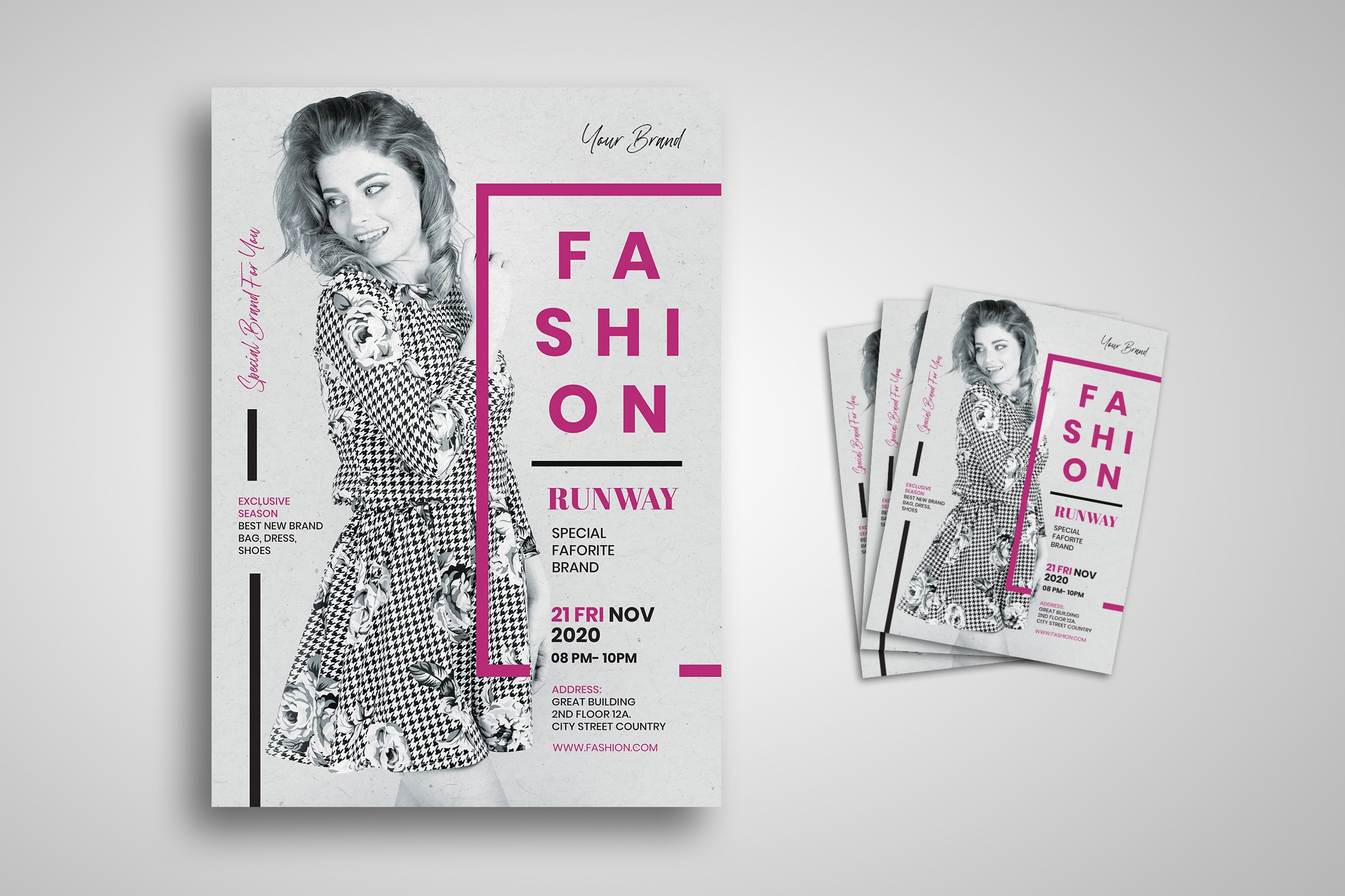 Flyer Template - Best Classic Fashion