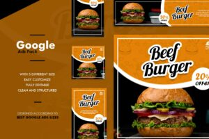 Google Ads Web Banner - Beef Burger