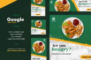 Google Ads Web Banner - Fast Food Menu