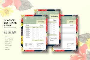 Invoice - Editorial Designer Business