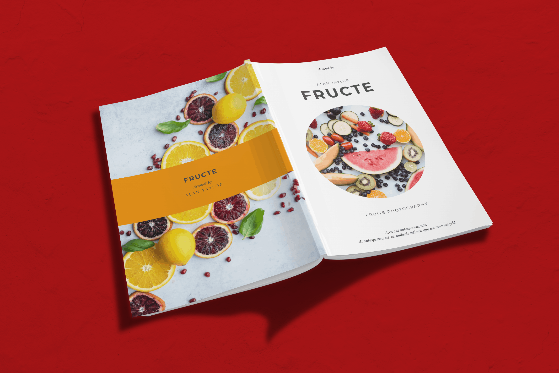 Magazine Template - Fruits Photography