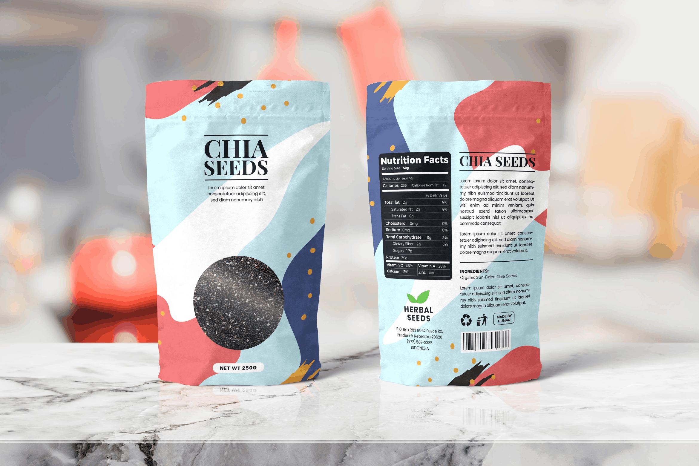 Packaging Template - Herbal Seeds