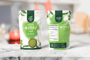 Packaging Template - Matcha Powder