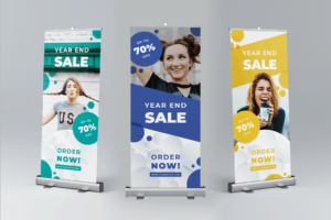 Roll Up Banner - Year End Sale, is a template which is suitable for all business and project goals. You can use this template to promote your brand, product, events and services. All files are neatly organized and can be customized in Adobe InDesign.