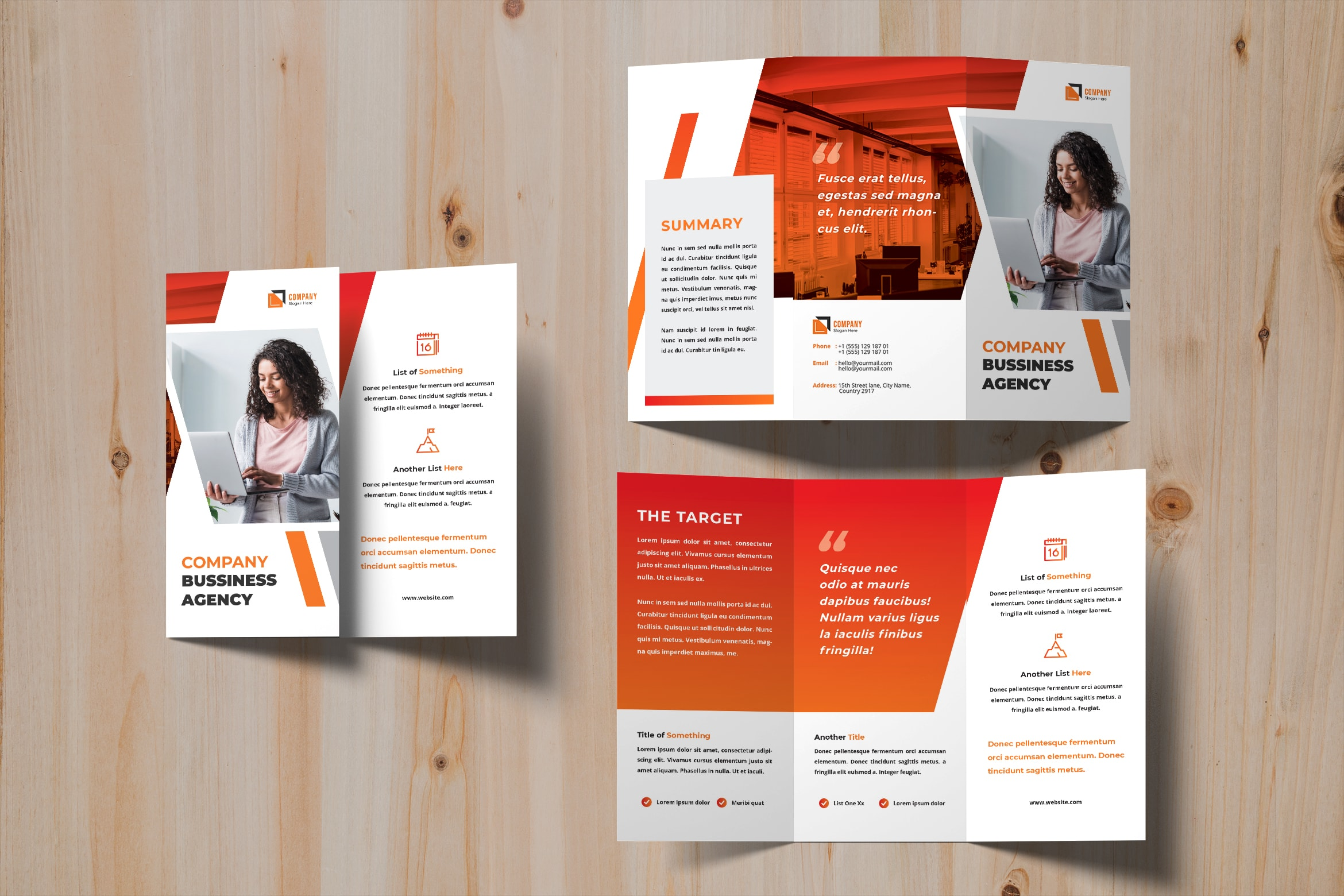 Trifold Brochure - Business Agency