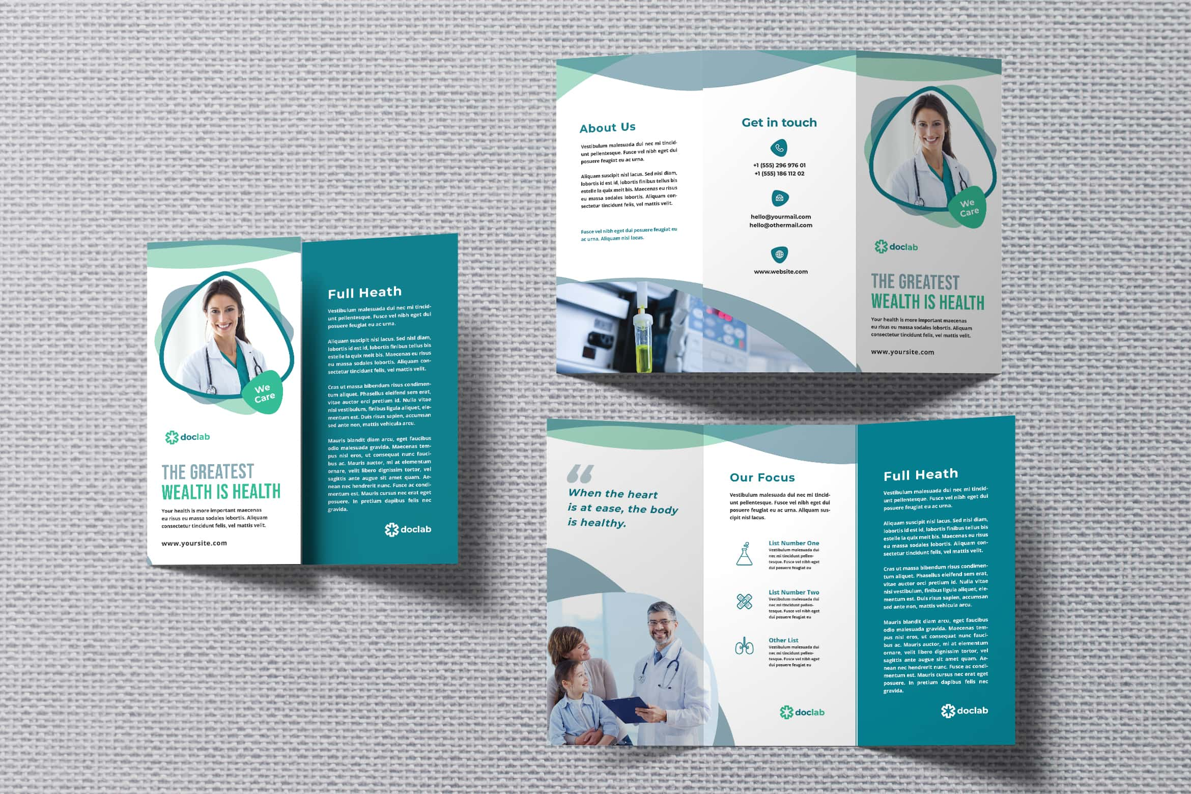 Trifold Brochure -Health Laboratory Center