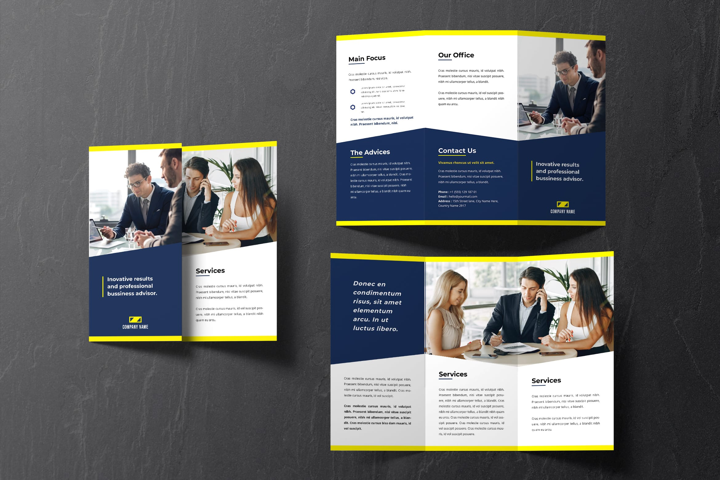 Trifold Brochure - Professional Business Advisor