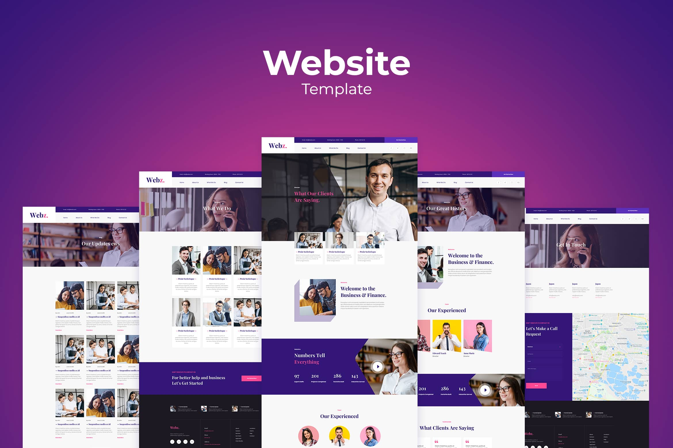 Website Template - Business & Finance Company