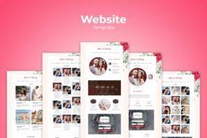 Website Template - Wedding Stories