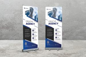Roll Up Banner - Business Creative Idea