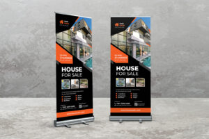 Roll Up Banner - House For Sale