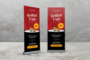Roll Up Banner - Special Grilled Fish Resto