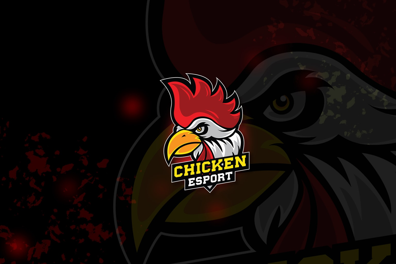 esport logo – chicken fighters